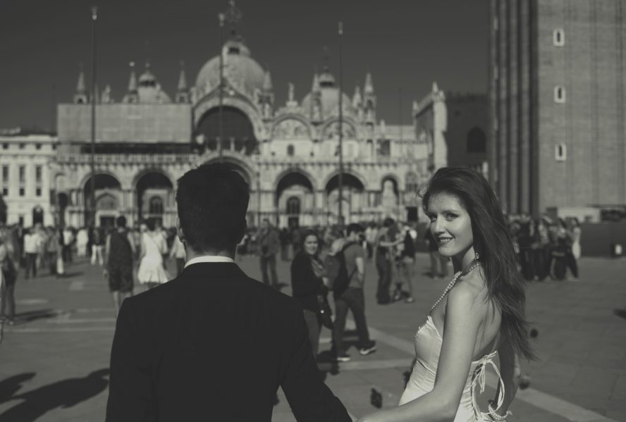 Locations for wedding photography in Venice - San Marco piazza