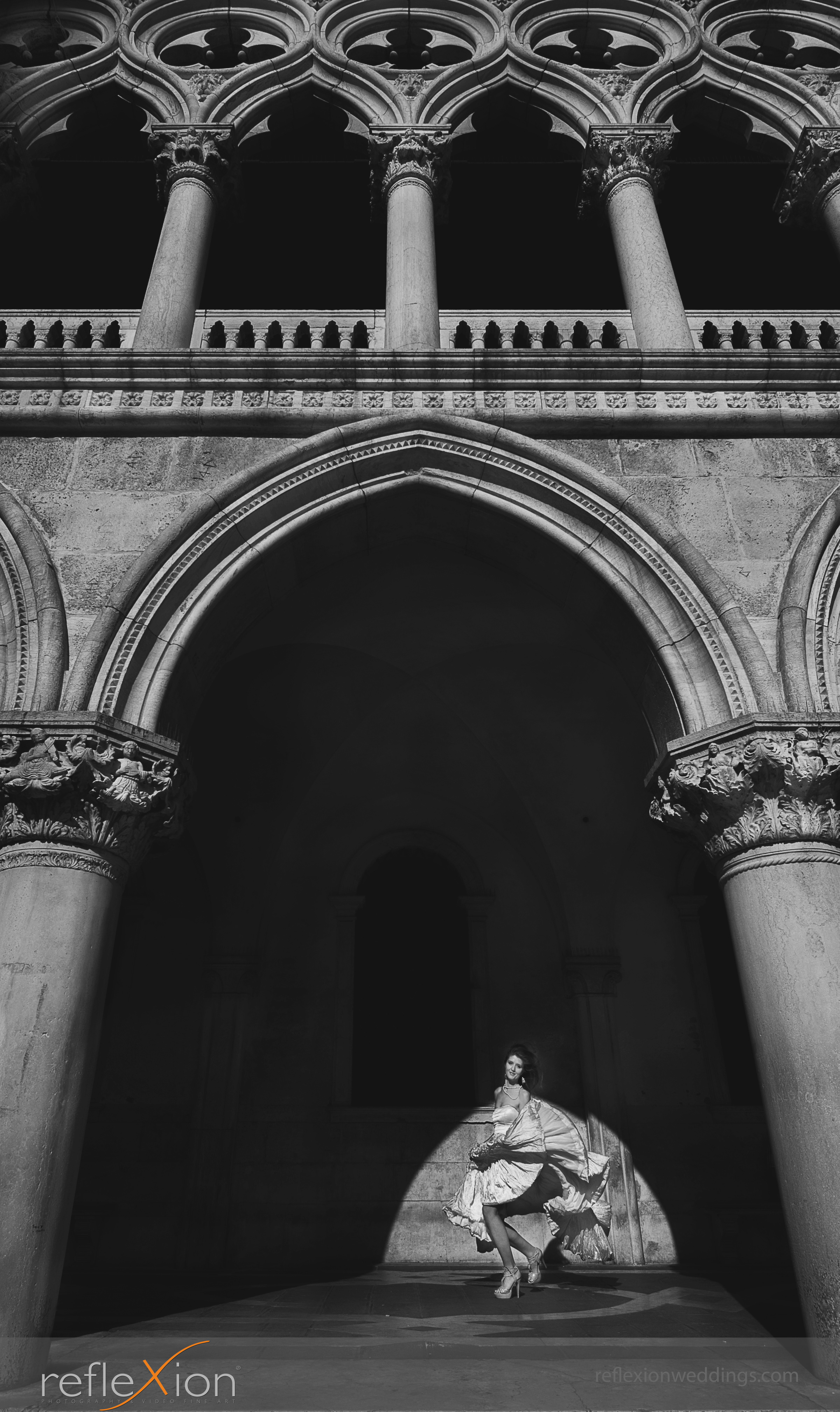 Locations for wedding photography in Venice - Doges' palace
