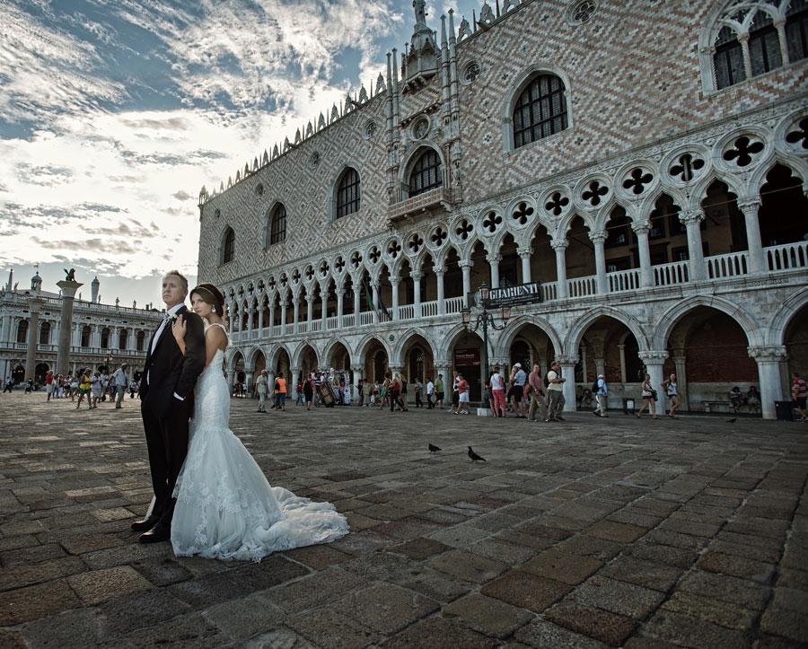 Venice Wedding Photography Bride And Groom San Marco
