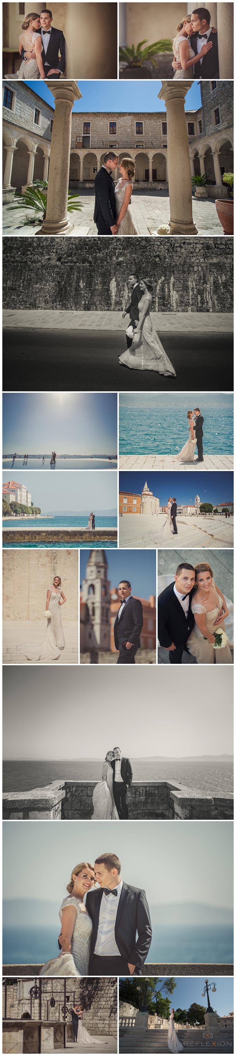 Bride And Groom Photosession In Historic Zadar Croatia