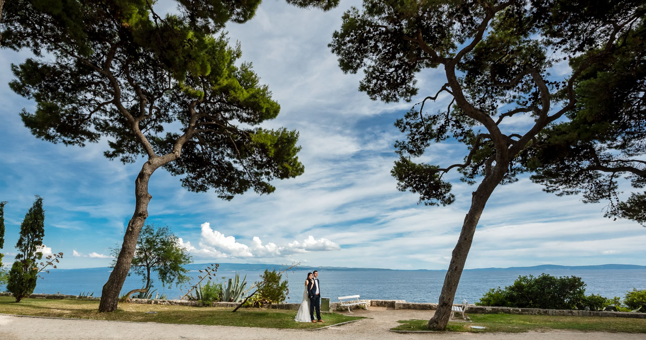 Wedding Photographer Split Croatia bride holding groom