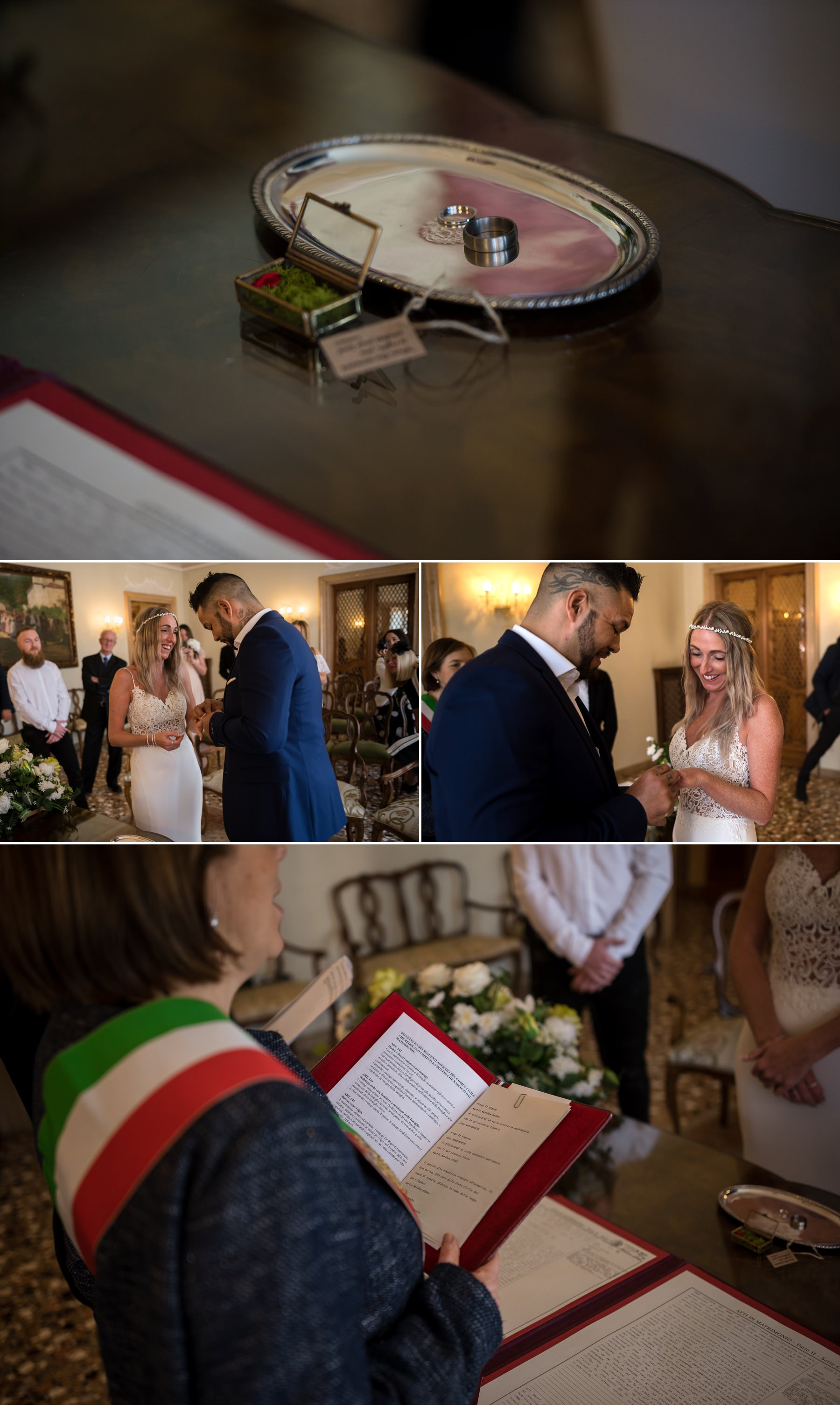 Palazzo Cavalli Venice wedding ring shoot detail