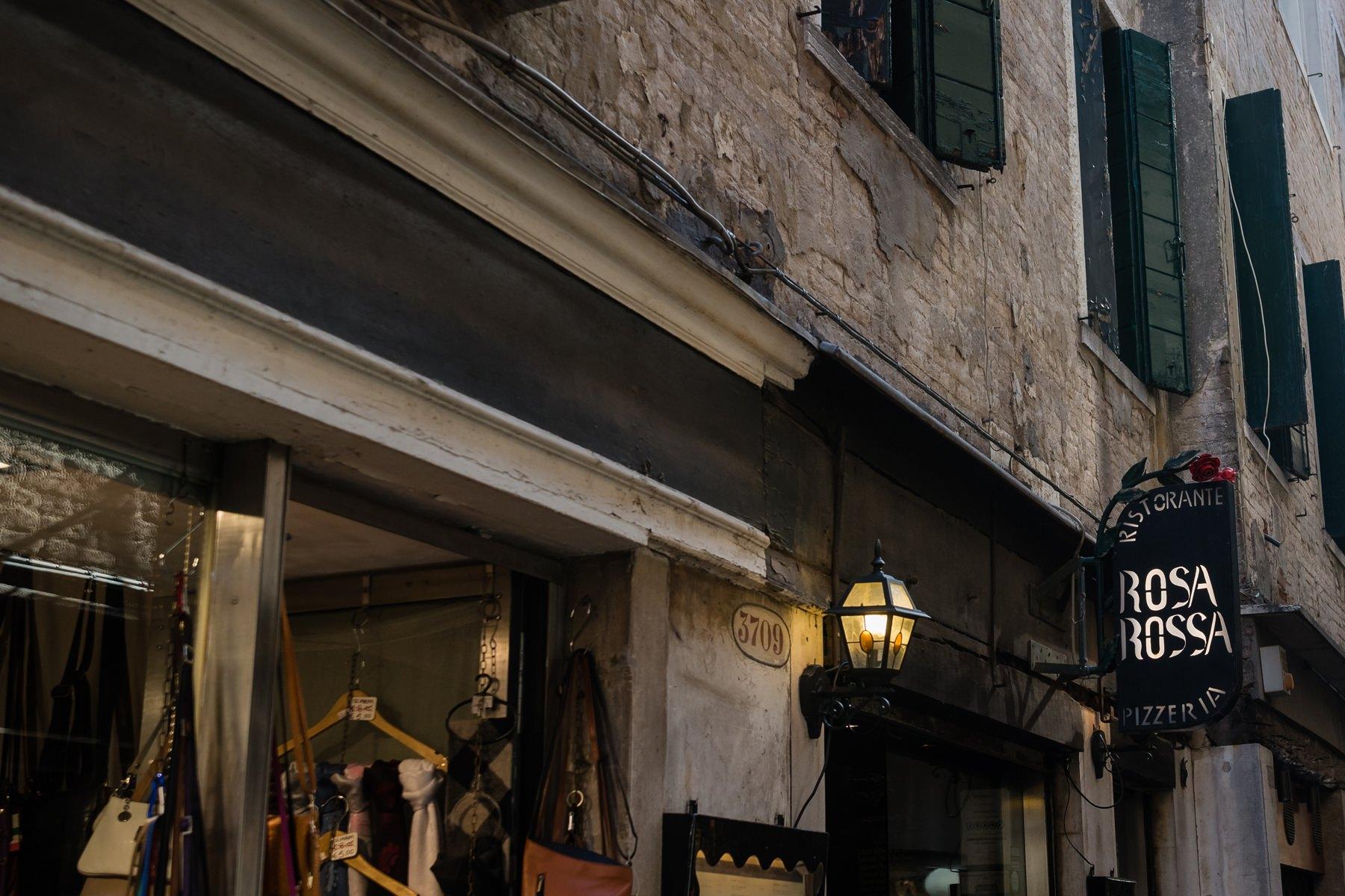 Palazzo Cavalli Venice rosa rosa resturant in venice