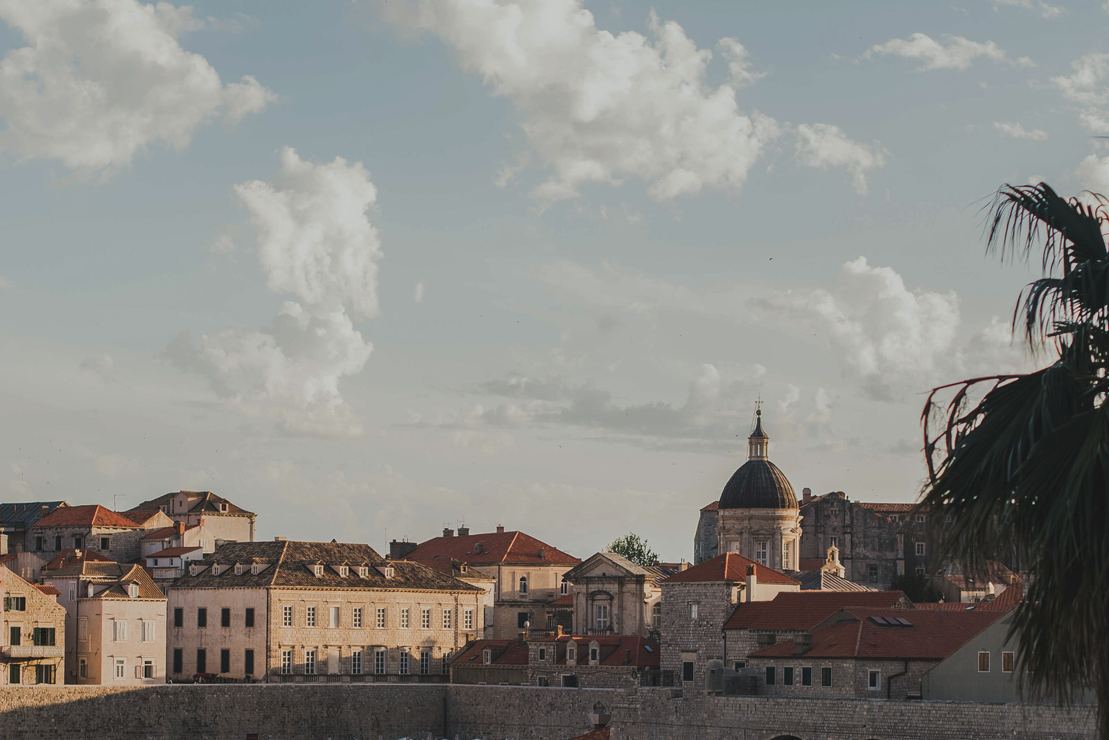 The roof of St. Vlaho Cathedral in Dubrovnik