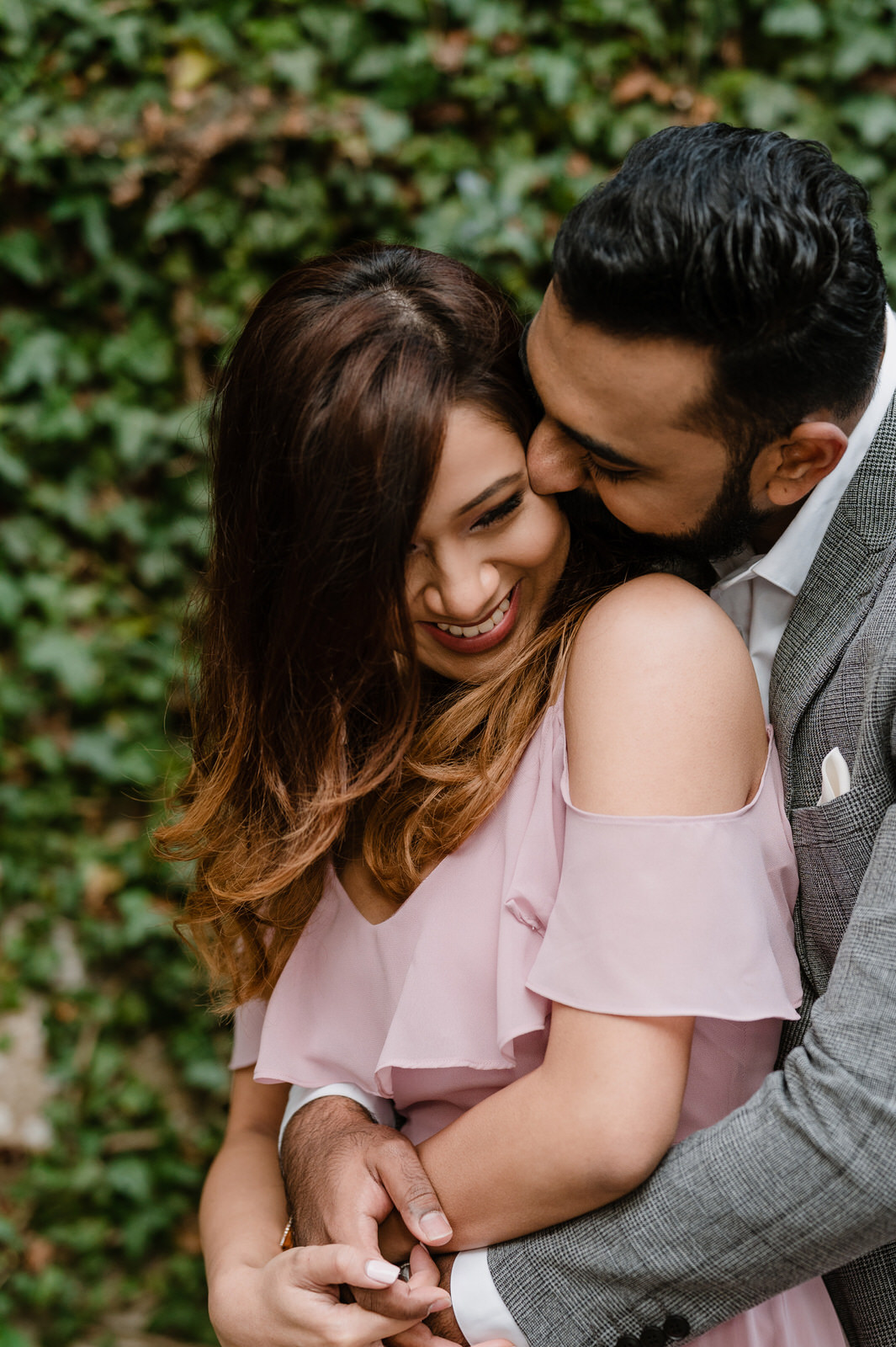 close up shoot of couple smiling